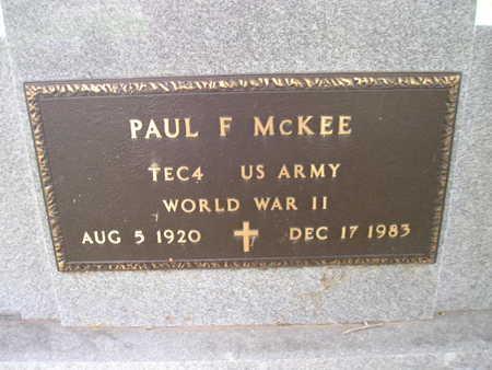 MCKEE, PAUL F - Bremer County, Iowa | PAUL F MCKEE