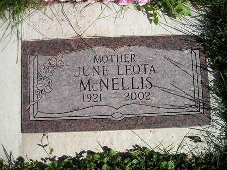 LEOTA MCNELLIS, JUNE - Bremer County, Iowa | JUNE LEOTA MCNELLIS