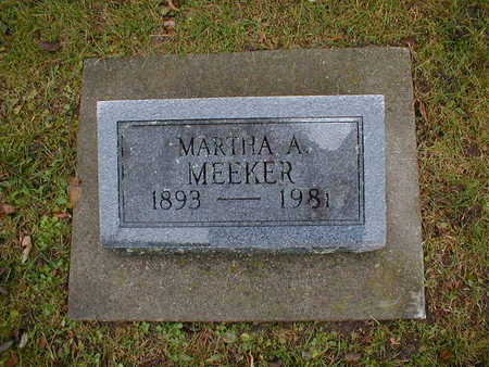 MEEKER, MARTHA A - Bremer County, Iowa   MARTHA A MEEKER