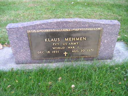 MEHMEN, KLAUS - Bremer County, Iowa | KLAUS MEHMEN