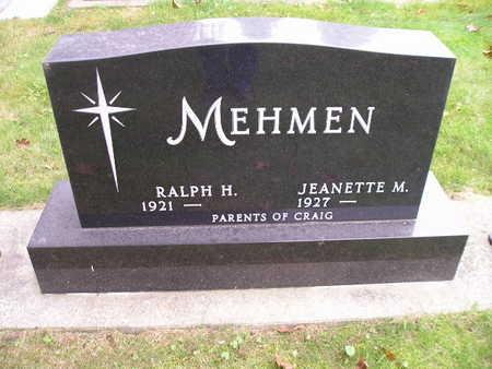MEHMEN, RALPH H - Bremer County, Iowa   RALPH H MEHMEN