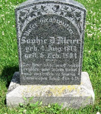 MEIER, SOPHIE D. - Bremer County, Iowa   SOPHIE D. MEIER