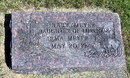 MEYER, BABY DAUGHTER - Bremer County, Iowa   BABY DAUGHTER MEYER