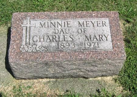 MEYER, MINNIE - Bremer County, Iowa | MINNIE MEYER