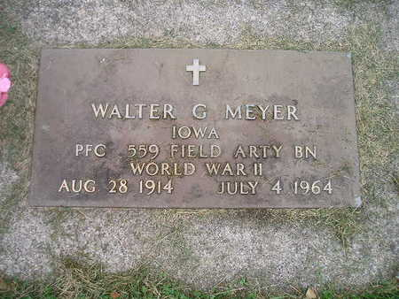 MEYER, WALTER G - Bremer County, Iowa   WALTER G MEYER