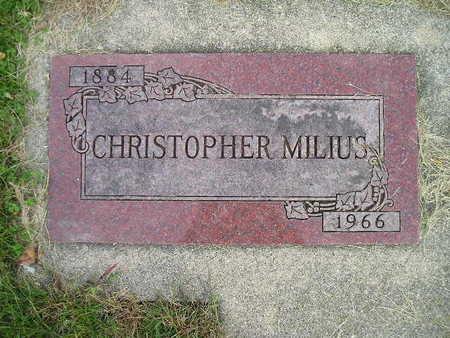 MILIUS, CHRISTOPHER - Bremer County, Iowa   CHRISTOPHER MILIUS