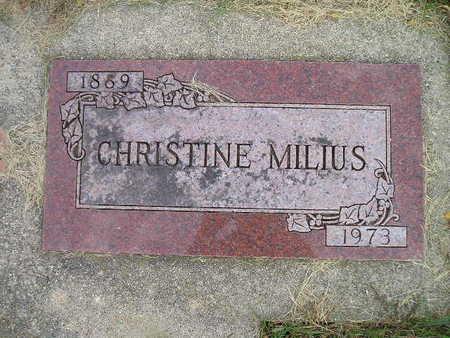 MILIUS, CHRISTINE - Bremer County, Iowa | CHRISTINE MILIUS