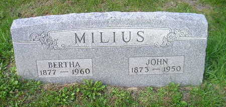 MILUS, BERTHA - Bremer County, Iowa | BERTHA MILUS