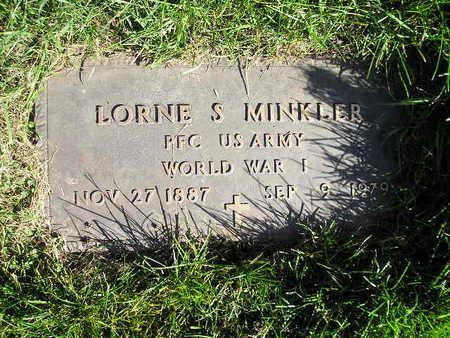 MINKLER, LORNE S - Bremer County, Iowa | LORNE S MINKLER