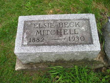 BECK MITCHELL, ELSIE - Bremer County, Iowa   ELSIE BECK MITCHELL