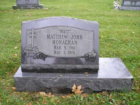 MONAGHAN, MATTHEW JOHN - Bremer County, Iowa   MATTHEW JOHN MONAGHAN