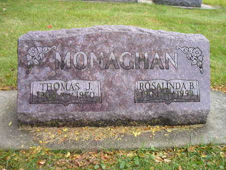 MONAGHAN, ROSALINDA B - Bremer County, Iowa | ROSALINDA B MONAGHAN