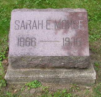 MORSE, SARAH E - Bremer County, Iowa | SARAH E MORSE