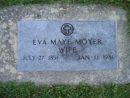 MOYER, EVA MAYE - Bremer County, Iowa   EVA MAYE MOYER