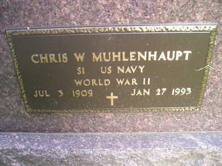 MUHLENHAUPT, CHRIS W - Bremer County, Iowa | CHRIS W MUHLENHAUPT