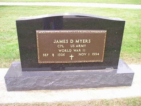 MYERS, JAMES D - Bremer County, Iowa | JAMES D MYERS