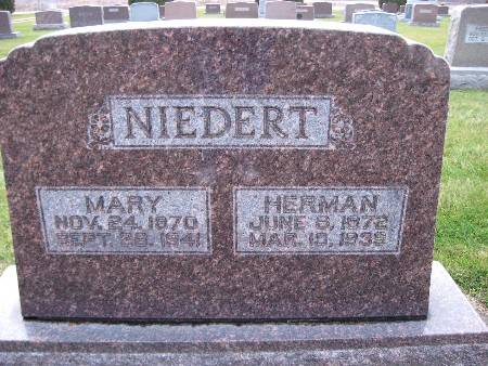 NIEDERT, HERMAN - Bremer County, Iowa | HERMAN NIEDERT