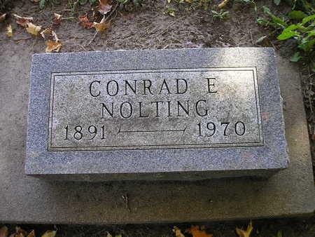 NOLTING, CONRAD E - Bremer County, Iowa   CONRAD E NOLTING