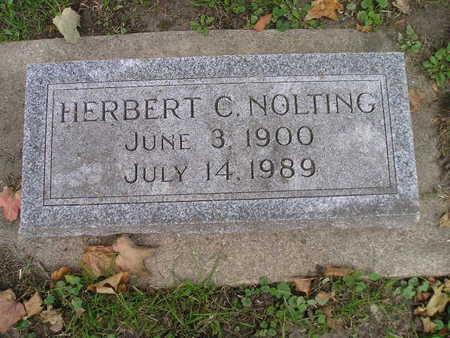 NOLTING, HERBERT C - Bremer County, Iowa   HERBERT C NOLTING