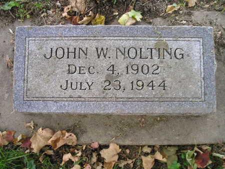 NOLTING, JOHN W - Bremer County, Iowa   JOHN W NOLTING