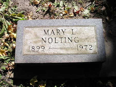 NOLTING, MARY L - Bremer County, Iowa | MARY L NOLTING