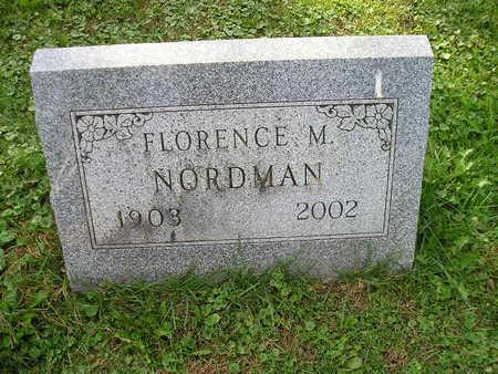 NORDMAN, FLORENCE M - Bremer County, Iowa | FLORENCE M NORDMAN