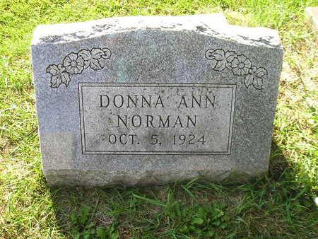 NORMAN, DONNA ANN - Bremer County, Iowa   DONNA ANN NORMAN