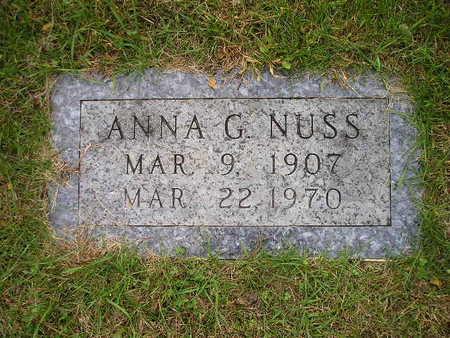 NUSS, ANNA G - Bremer County, Iowa | ANNA G NUSS