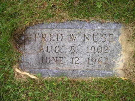 NUSS, FRED W - Bremer County, Iowa   FRED W NUSS