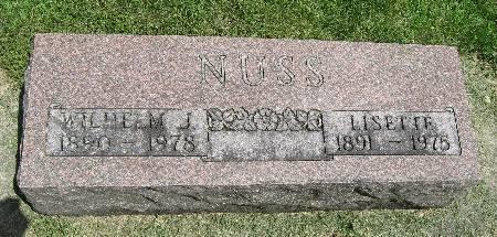 NUSS, WILHELM J. - Bremer County, Iowa | WILHELM J. NUSS
