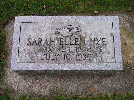 NYE, SARAH ELLEN - Bremer County, Iowa | SARAH ELLEN NYE