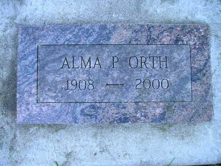 ORTH, ALMA P - Bremer County, Iowa | ALMA P ORTH