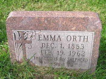 ORTH, EMMA - Bremer County, Iowa   EMMA ORTH