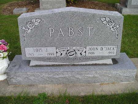PABST, LOIS J - Bremer County, Iowa | LOIS J PABST