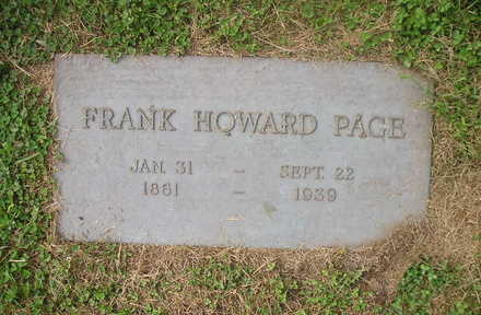 PAGE, FRANK HOWARD - Bremer County, Iowa | FRANK HOWARD PAGE