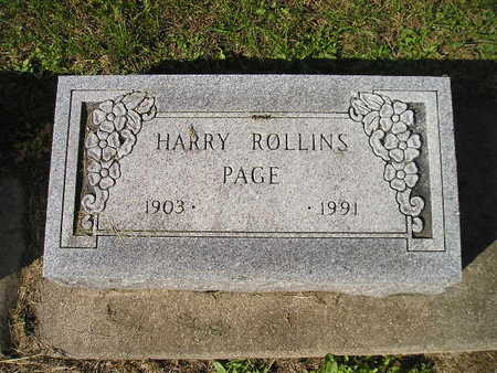 PAGE, HARRY ROLLINS - Bremer County, Iowa | HARRY ROLLINS PAGE