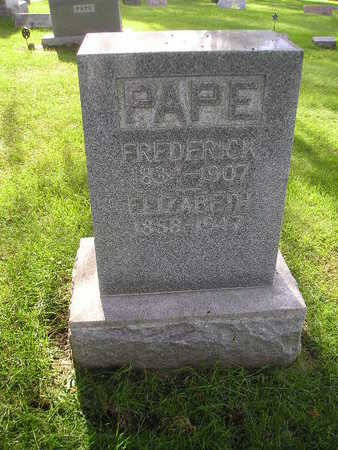 PAPE, FREDERICK - Bremer County, Iowa | FREDERICK PAPE