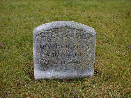 PARSON, LORRAINE R - Bremer County, Iowa | LORRAINE R PARSON
