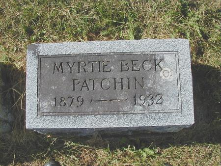 PATCHIN, MYRTIE F. - Bremer County, Iowa | MYRTIE F. PATCHIN