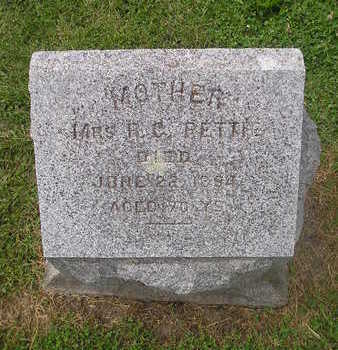 PETTIE, MRS R. C. - Bremer County, Iowa   MRS R. C. PETTIE