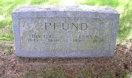 PFUND, C. C. - Bremer County, Iowa   C. C. PFUND