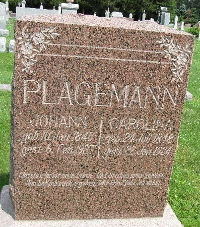PLAGEMANN, JOHANN - Bremer County, Iowa   JOHANN PLAGEMANN