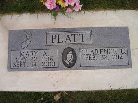 PLATT, MARY A - Bremer County, Iowa | MARY A PLATT