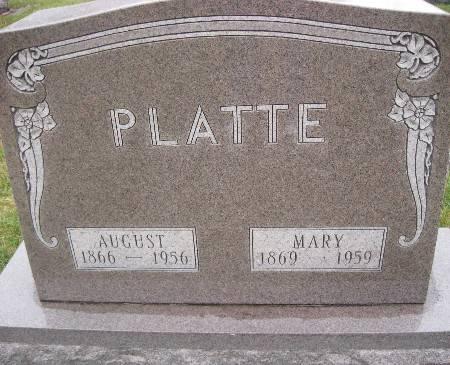 PLATTE, AUGUST - Bremer County, Iowa   AUGUST PLATTE