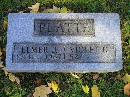 PLATTE, ELMER J - Bremer County, Iowa   ELMER J PLATTE