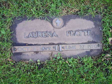 PLATTE, LAURENA - Bremer County, Iowa   LAURENA PLATTE