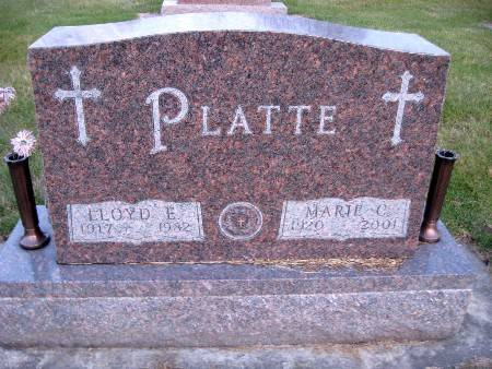 PLATTE, LLOYD E - Bremer County, Iowa   LLOYD E PLATTE