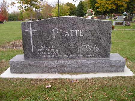 PLATTE, SARA L - Bremer County, Iowa   SARA L PLATTE