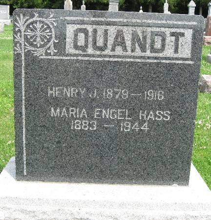 HASS QUANDT, MARIA ENGEL - Bremer County, Iowa   MARIA ENGEL HASS QUANDT