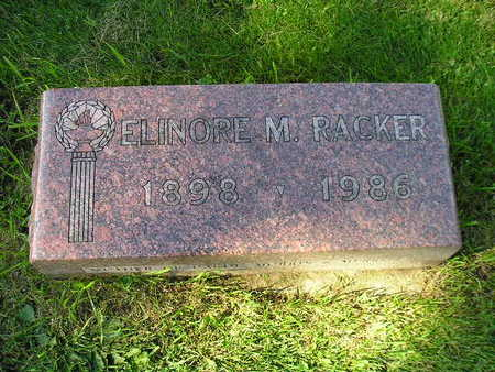 RACKER, ELINORE M - Bremer County, Iowa   ELINORE M RACKER